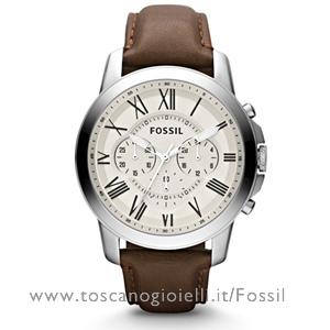 Orologio Fossil Uomo Cronografo in Acciaio e Pelle