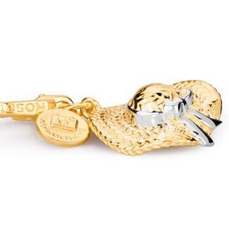 Charm Cappello Rosato Argento Oro - Collezione My Holidays - HL002
