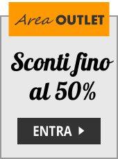 Area OUTLET: Sconti fino al 50%