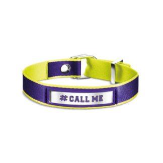 Bracciale #CALL ME Nomination Cotone Poliuretano e Acciaio - #ME - 131000/002