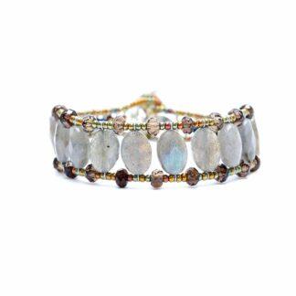 Bracciale Ziio Donna Argento Labradorite Perle - Essentiel Grey Pearl - BR ESSENTIEL GREY PEARL