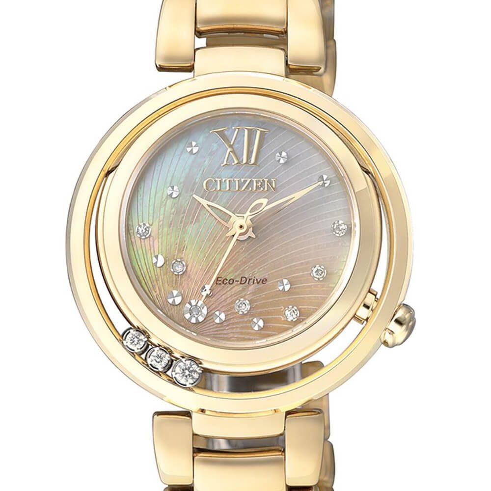 selezione premium 92919 7ff54 Orologio Citizen Eco Drive da Donna in Acciaio Dorato e Diamanti - L -  EM0325-55P
