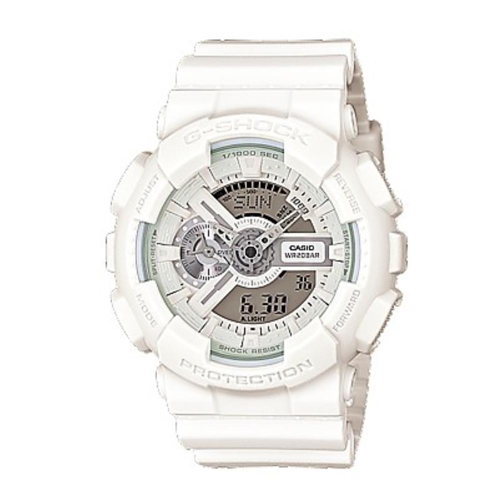 nuovo prodotto fbc83 a7e65 Orologio Casio Resina Bianco Cronografo Multifunzione – G-Shock –  GA-110BC-7AER