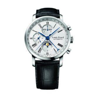 Orologio Uomo Louis Erard Automatico Cronografo Acciaio Pelle - 80231AA01
