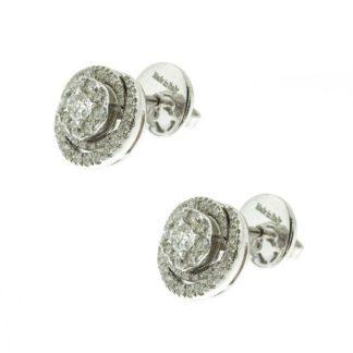 Orecchini Davite & Delucchi Donna Oro Bianco Diamanti BB-08755-OS_2