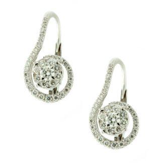 Orecchini Davite & Delucchi Donna Oro Bianco Diamanti - BB008851OS