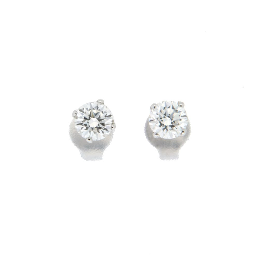 qualità del marchio fornire un sacco di vasta gamma di Orecchini Punto Luce DLS Oro bianco e Diamante - OS3158AU30