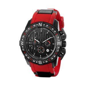 Orologio Zancan Cronografo in Acciaio e Gomma Nero e Rosso - HWS010