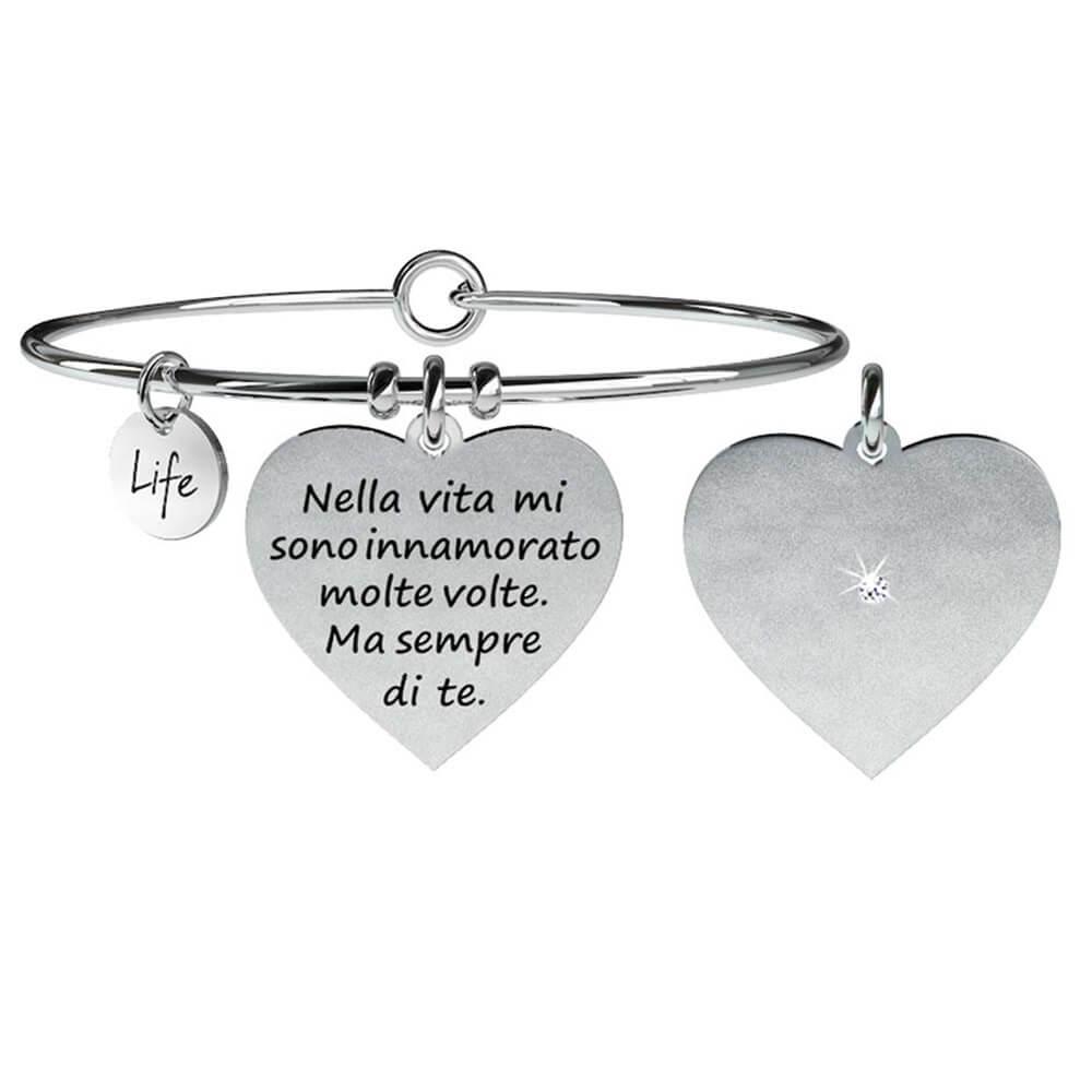 spedizione gratuita 13037 967c6 Bracciale Donna Kidult in Acciaio Cuore | Innamorato - Love - 731059