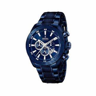 Orologio Festina Uomo Cronografo Blu in Acciaio - F16887/1