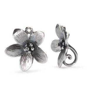 Orecchini Trollbeads Argento Fiore del Vento - TAGEA-30003