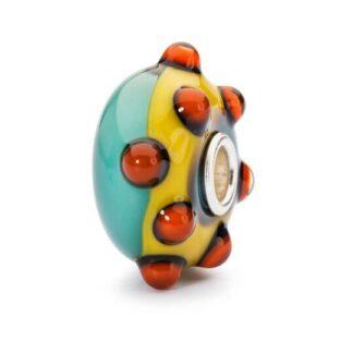 Bead Trollbeads Vetro Corona Papaveri - TGLBE-10270