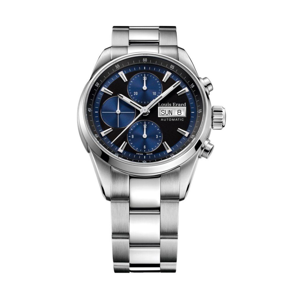 a81edeaec1fc2a Orologio Louis Erard Heritage Cronografo Automatico Blu Uomo in Acciaio –  78104AA12.BMA22