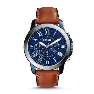 Orologio Fossil Uomo Cronografo Acciaio Pelle Blu - FS5151