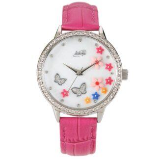 Orologio Didofà Luxury Butterfly Rosa Fiori Cristalli - DF-3018B
