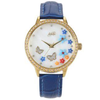 Orologio Didofà Luxury Butterfly Blu Fiori Cristalli - DF-3018C