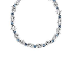 Collana Uno de 50 Peltro Swarovski Azzurro - COL1085AZUMTL0U