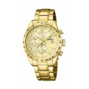 Orologio Festina Uomo Prestige Cronografo Acciaio Oro - F20266/1