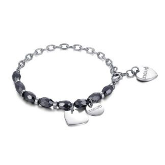 Bracciale Donna S'Agapo' Happy Special Moments - Cuore - Acciaio Onice - SHAF06