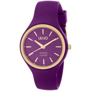 Orologio Donna Liu Jo Sprint Acciaio dorato Silicone Viola TLJ1144