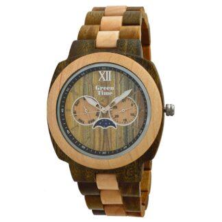 Orologio Green Time Legno - Square - Solo Tempo Multifunzione Unisex - ZW049