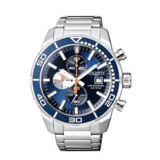 Orologio Cronografo Uomo Vagary Aqua39 Blu Arancione - IA9-616-71