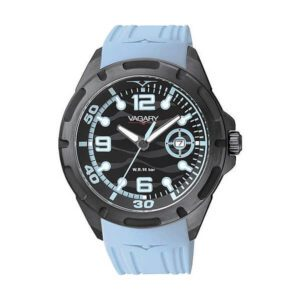 Orologio Solo Tempo Uomo Vagary Aqua39 Nero Azzurro - IB6-442-52