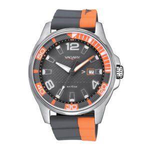Orologio Solo Tempo Uomo Vagary Aqua39 Nero Arancione - IB7-414-50