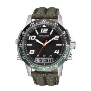 Orologio Cronografo Uomo Vagary Navy Pilot Verde - IP3-017-50