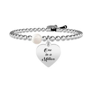Bracciale Donna Kidult in Acciaio e Perla Cuore | One in a Million - Love - 731261