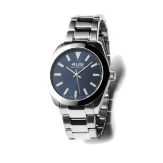 Orologio Uomo Solo Tempo 4US - Blu - Acciaio - T4LS181