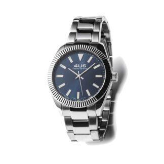Orologio Uomo Solo Tempo 4US - Blu - Acciaio - T4LS186