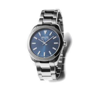 Orologio Uomo Solo Tempo 4US - Blu - Acciaio - T4LS187