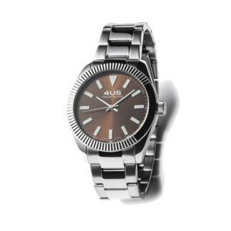 Orologio Uomo Solo Tempo 4US - Marrone - Acciaio - T4LS189