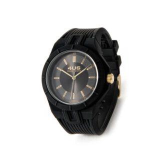 Orologio Uomo Solo Tempo 4US - Nero - Acciaio Silicone - T4RB158