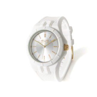 Orologio Uomo Solo Tempo 4US - Bianco - Acciaio Silicone - T4RB160