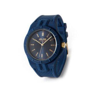 Orologio Uomo Solo Tempo 4US - Blu - Acciaio Silicone - T4RB162