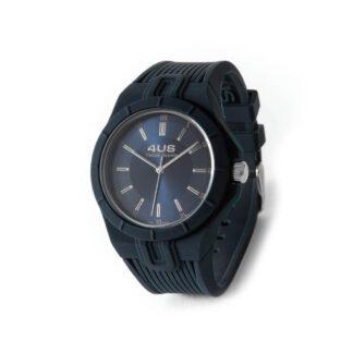 Orologio Uomo Solo Tempo 4US - Blu - Acciaio Silicone - T4RB163