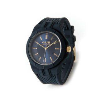 Orologio Uomo Solo Tempo 4US - Blu -Acciaio Silicone - T4RB164