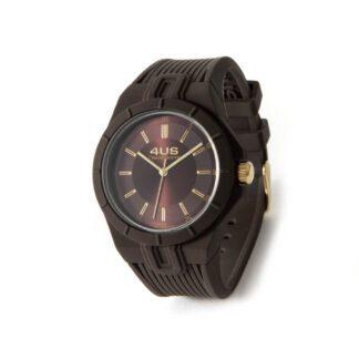 Orologio Uomo Solo Tempo 4US - Marrone - Acciaio Silicone - T4RB165