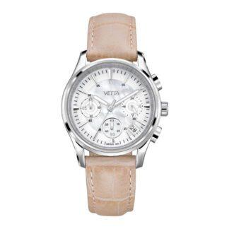 Orologio Vetta Donna Cronografo in Acciaio e Pelle - VW0110