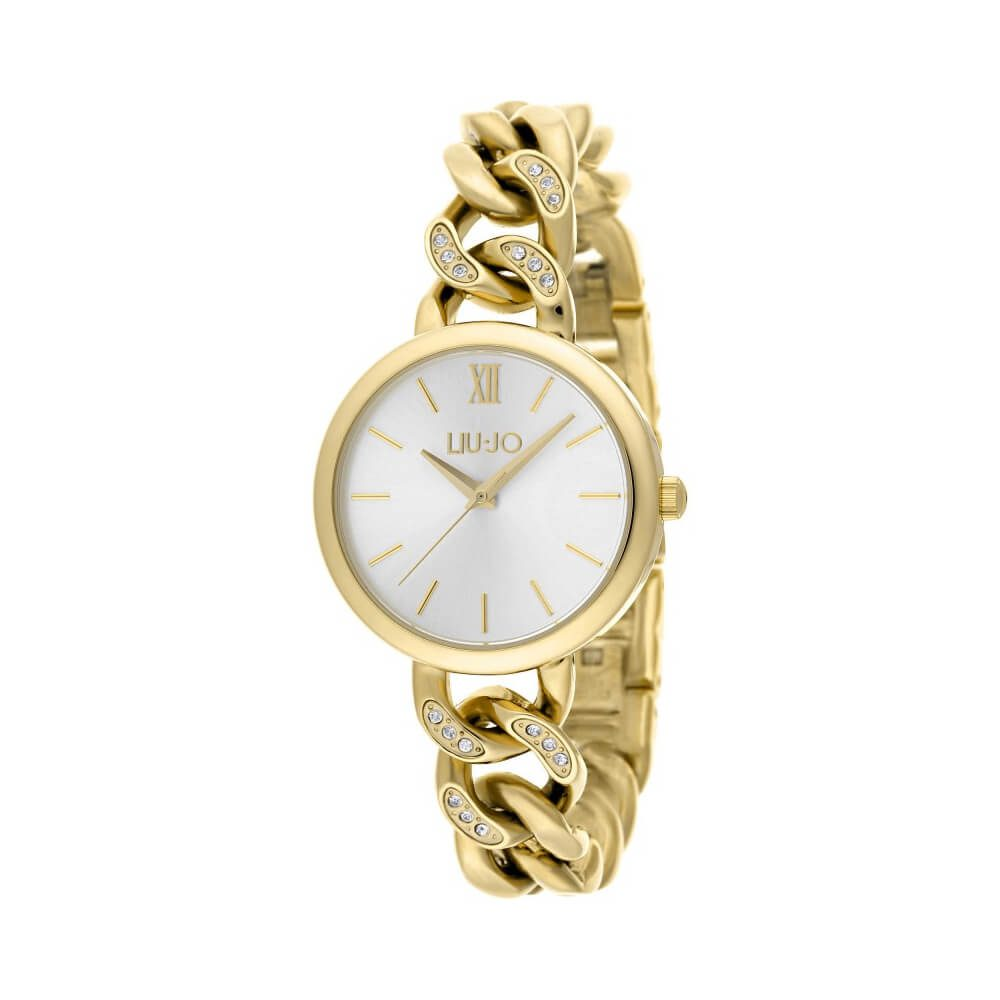 Orologio Liu Jo Luxury – Pretty Chain Gold – in Acciaio e Cristalli –  TLJ1191A 60824bcbf11