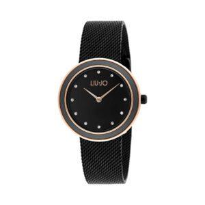 Orologio Liu Jo Luxury - Luxury Round Nero Acciaio Cristalli TLJ1199A
