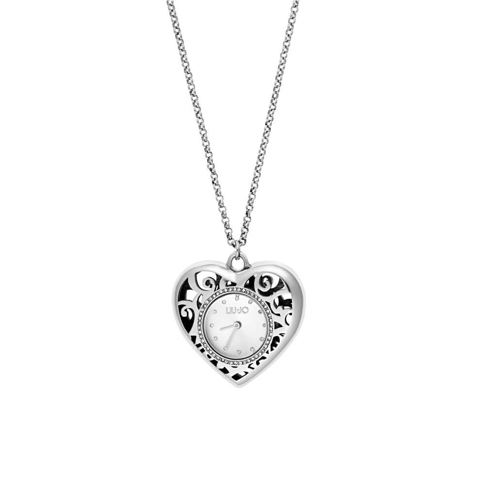 Orologio Collana Liu Jo Luxury – Heart Silver – in Acciaio – TLJ1201A 43511723893