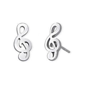 Orecchini 2Jewels Acciaio Cristalli Chiave di Violino - Puppy - 261242