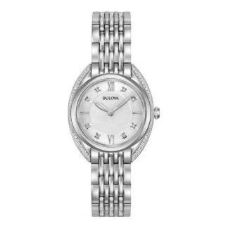 Orologio Bulova Donna in Acciaio e Diamanti - 96R212
