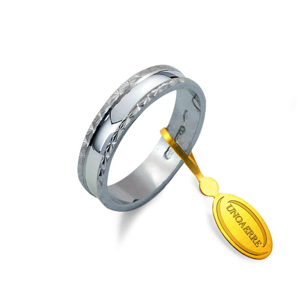 rivenditore di vendita 7fb22 cbd1a Fedina Classica Unoaerre in Oro Bianco - AF 235 04