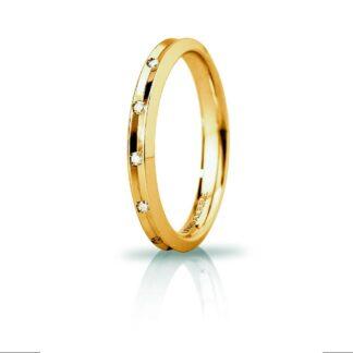 Fede Slim Unoaerre Oro Diamanti