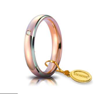 Fede Comoda Unoaerre Oro Bicolore Diamante