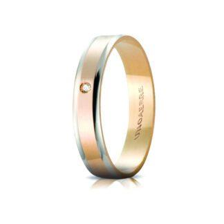 Fedina Unoaerre Oro Bicolore Diamante